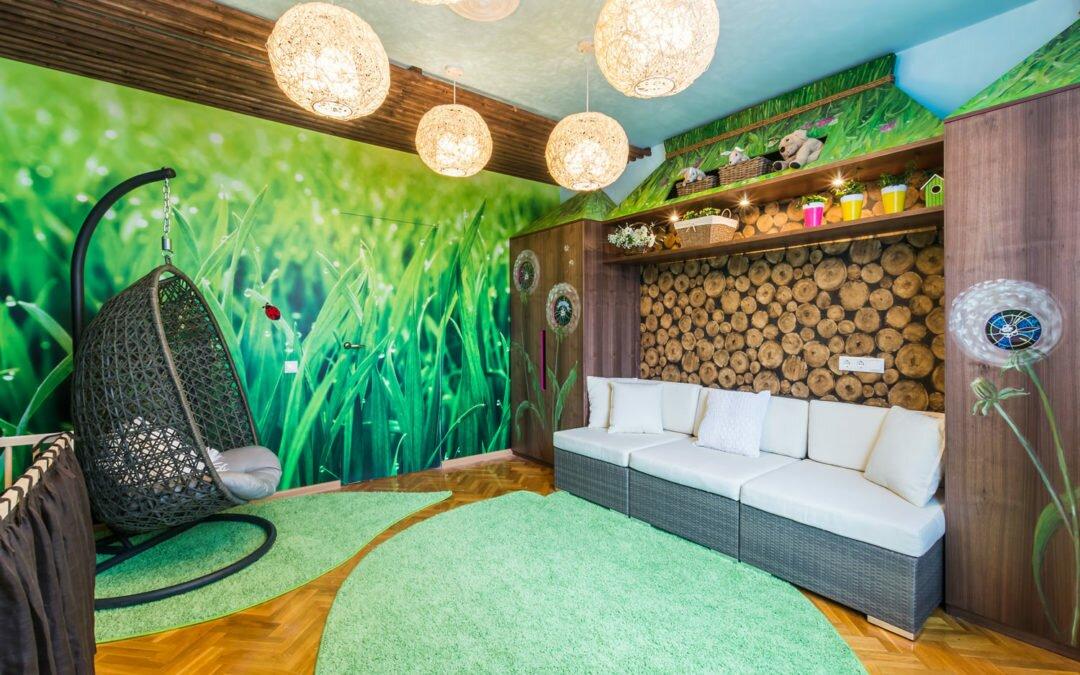 Фотографии детских комнат, декорированных фотообоями